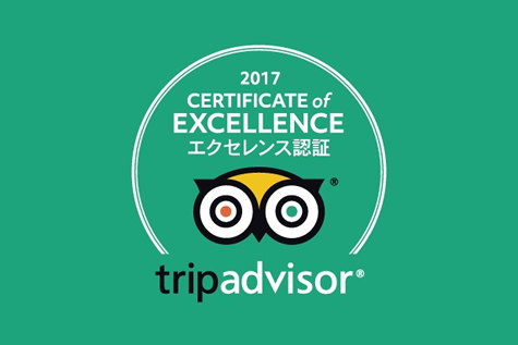 TripAdvisor Received a Certificate of Excellence in 2017!
