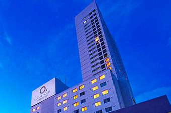 Toyohashi's landmark hotel at 30 stories tall