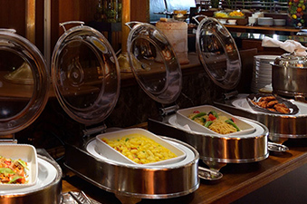 A colorful breakfast to start your day Japanese- and Western-style buffet