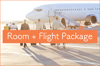 Easy, low-cost and your choice of holiday [Room + Flight Package]